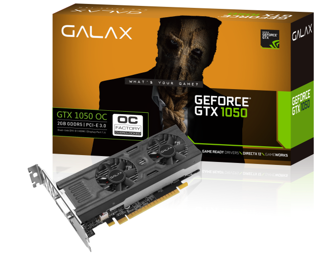 GALAX-GTX-1050-LP-BOX+Card